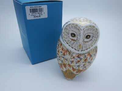 Royal Crown Derby Winter Owl Paperweight • 99.99£