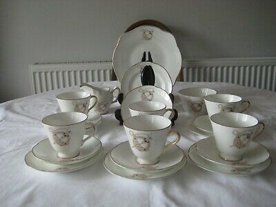 21 Pc Royal Tara Tara Brooch Tea Set Fine Bone China  • 75£