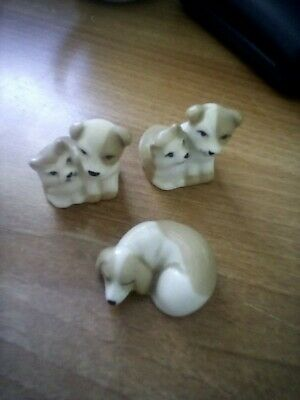 3 X Vintage Szeiler Dog Figurines • 7.50£