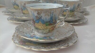 Colclough Crinoline Lady Teacup Trio  • 28£