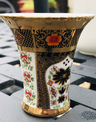 Gold Imari Unmarked Vase, Small 2.5 Inches Approx • 0.99£
