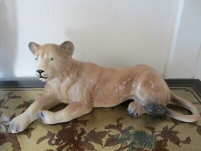 Vintage Melba Ware Lion And Lioness Pottery Figurines Ornaments • 19.99£