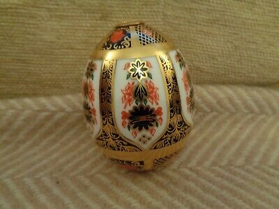 Rare Royal Crown Derby Egg Imari  Pattern First Condition • 35£