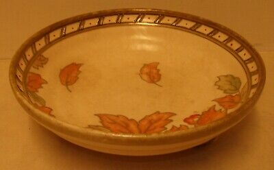 Deco Crown Ducal Charlotte Rhead Footed Bowl - Autumn Leaves - Signed To Base • 32£