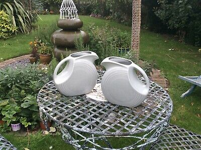 Fiesta Ware  Pair Of Collectable Disc Pitchers • 10£