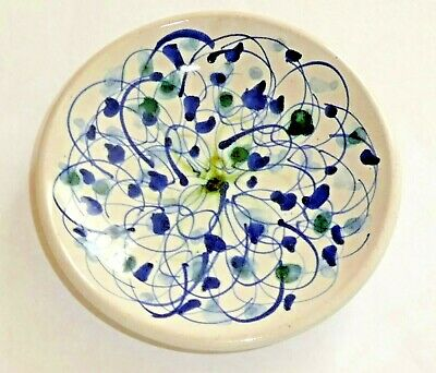 Vintage Rye Studio Pottery Pin Dish  Squiggle  Pattern • 18£