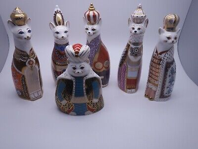 Royal Crown Derby Set Of 6 Royal Cats • 899.99£