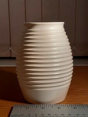 1940s Art Deco Keith Murray Wedgwood Moonstone Annular Vase In VGC.5.5  Tall. • 208£