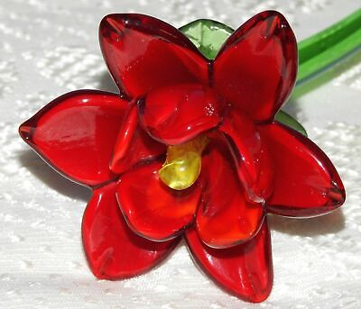 Large RED Glass Flowers • 19.50£