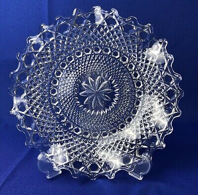 Sowerby Clear Glass Hobnail Plate/bowl/dish  • 8£
