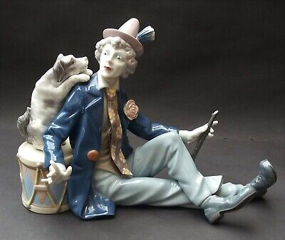 RETIRED LLADRO MUSICAL PARTNERS CLOWN AND DOG FIGURINE - No. 5763G • 149.99£