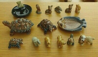 Wade Pottery Job Lot Of 15 Items - Whimsies / Whimtrays / Disney • 17.50£
