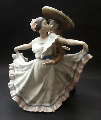 RETIRED LLADRO MEXICAN DANCERS FIGURINE - No. 5415G • 274.99£