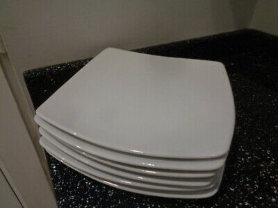 Marks And Spencer Andante Square Dinner Plates X 6 - White • 36£