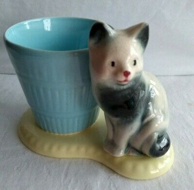 Vintage Withernsea Eastgate Hornsea Pottery Cat  'Posy Bowl'  • 3£