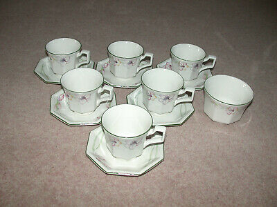 Bhs / Johnson Brothers Sandringham  6 Cups & Saucers & A Sugar Bowl • 15£