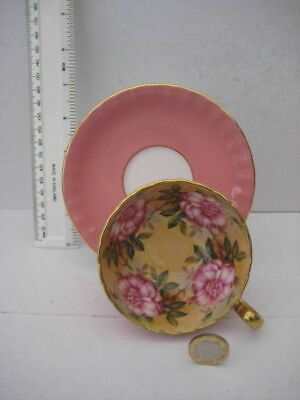 Rare Vintage Aynsley England Cabinet Tea Cup Saucer Cabbage Pink Roses • 269.99£