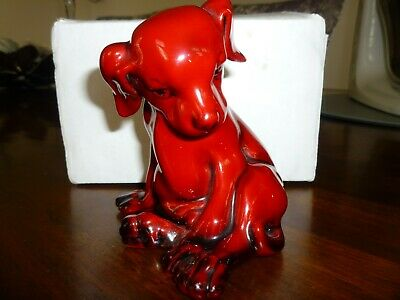 RARE Royal Doulton Flambe Puppy 1923-1927 Excellent Condition • 140£
