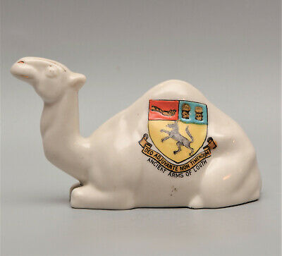 Rare SHELLEY Crested China CAMEL  LOUTH  Lincolnshire • 1.99£