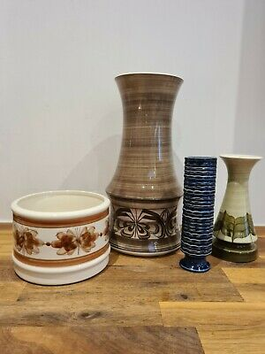 Set 4 Vintage Retro Jersey Pottery - Vases And Flower Pot • 28£
