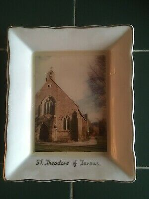 Vintage Crested China - St Theodore Of Tarsus Church - Weatherby Royal Falcon • 6£
