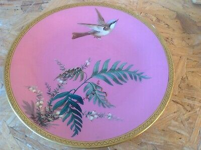 Hand Painted Minton Plate . • 75£
