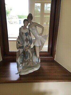 Large Lladro Ballerina And Jester Centrepiece • 750£