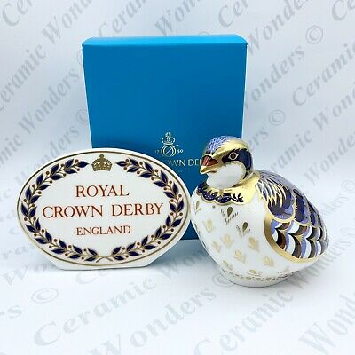 Royal Crown Derby Red Legged Partridge Bird Paperweight - Gold Stopper • 65£
