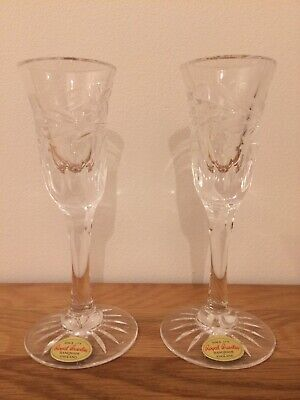 Royal Brierley Crystal Jasmine Candle Holders • 15.99£