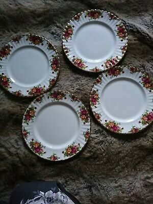 Royal Albert Old Country Roses Set Of Four Dinner Plates • 3£