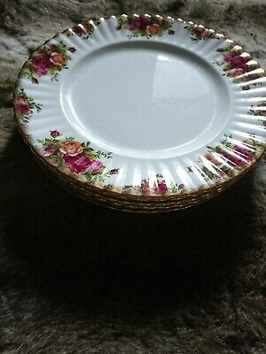 ROYAL ALBERT  OLD COUNTRY ROSES Dinner Set Of Six PLATE PLATEs • 8.50£