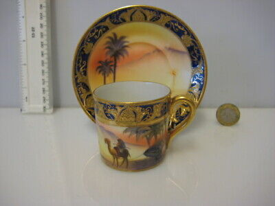 Rare Vintage Noritake Japan Desert Scene Heavy Gilt Coffee Can And Saucer • 29.99£