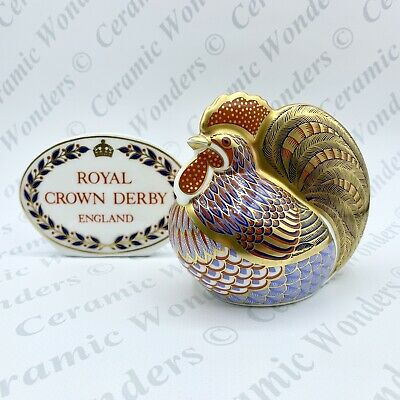 Royal Crown Derby Cockerel Animal Paperweight - 1st Quality - Gold Stopper • 50£