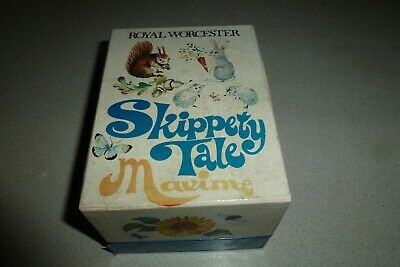 Boxed Royal Worcester Maxime Extra Large Skippety Tale Animals Egg Coddler • 55£