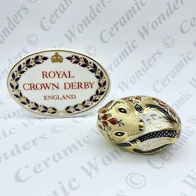 Royal Crown Derby Country Mouse Paperweight - 1st Quality - Gold Stopper • 35£