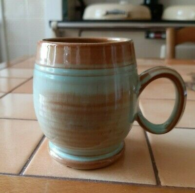 Prinknash Pottery Green And Brown Mug • 3.99£