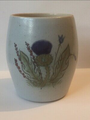 Buchan Portobello Scotland Finest Stoneware Thistle Vase Paint Brush Holder • 14.99£
