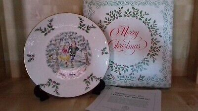 Royal Doulton China Plate : Christmas 1977 : Boxed : Made In England • 10£