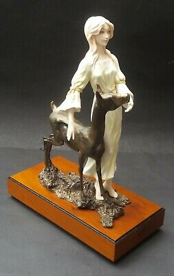 Well Detailed Limited Edition Albany China Fontainebleau Lady With Deer Figurine • 189.99£