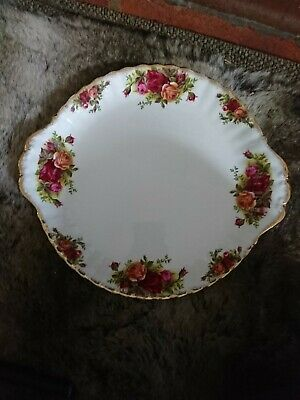 Fine Royal Albert China Cake/bread Plate  'old Country Roses Approx 10   • 2£