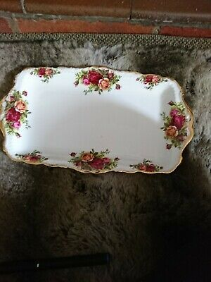 Fine Royal Albert China England Sandwich Tray  'old Country Roses 12 X 8  Approx • 5£