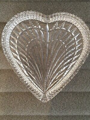 Waterford Crystal Large Heart Candy Dish • 25£