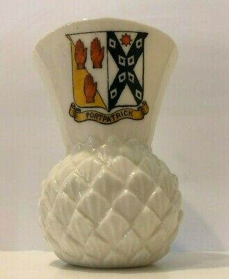 GOSS Thistle Vase With Pineapple Moulding 80mm/3inches. Arms: Portpatrick • 8£