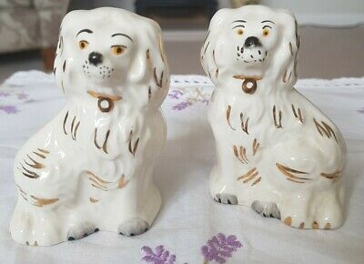 Beswick Pair Of Small Wally Mantle Dogs • 16£