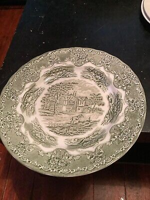 Grindley English Country Inns Green Plate/bowl Staffordshire.   G1 • 4£