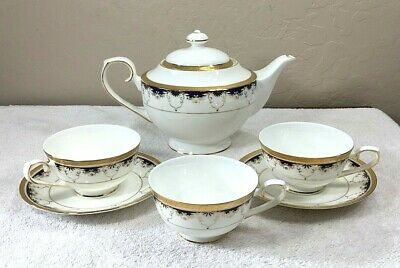 Vintage Teavana Grand Prussian Exclusive Collection Teapot 3 Cups 2 Saucers • 61.68£