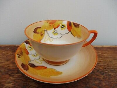 A Grays Pottery Cup & Saucer C1930's • 25£