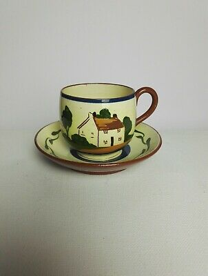 Watcombe Torquay Pottery Motto Ware Cup And Saucer • 4.95£