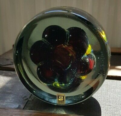 Beautiful Mdina Glass Paperweight Sea Urchin Michael Harris • 40£