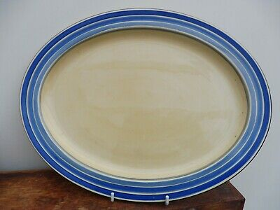 Grays Pottery Banded Large Oval Plate C1933  • 9£